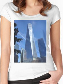 Freedom tower Women's Fitted Scoop T-Shirt