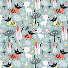 funny pattern of lovers dogs by Tanor
