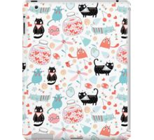 pattern of funny cats in love iPad Case/Skin