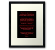 Ezekial 25:17 (Old English Black and Red) Framed Print