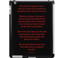 Ezekial 25:17 (Old English Black and Red) iPad Case/Skin