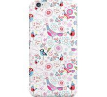 funny pattern of talking birds iPhone Case/Skin
