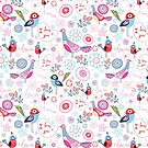 funny pattern of talking birds by Tanor
