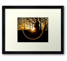 Sunset Though the Kitchen Window Framed Print