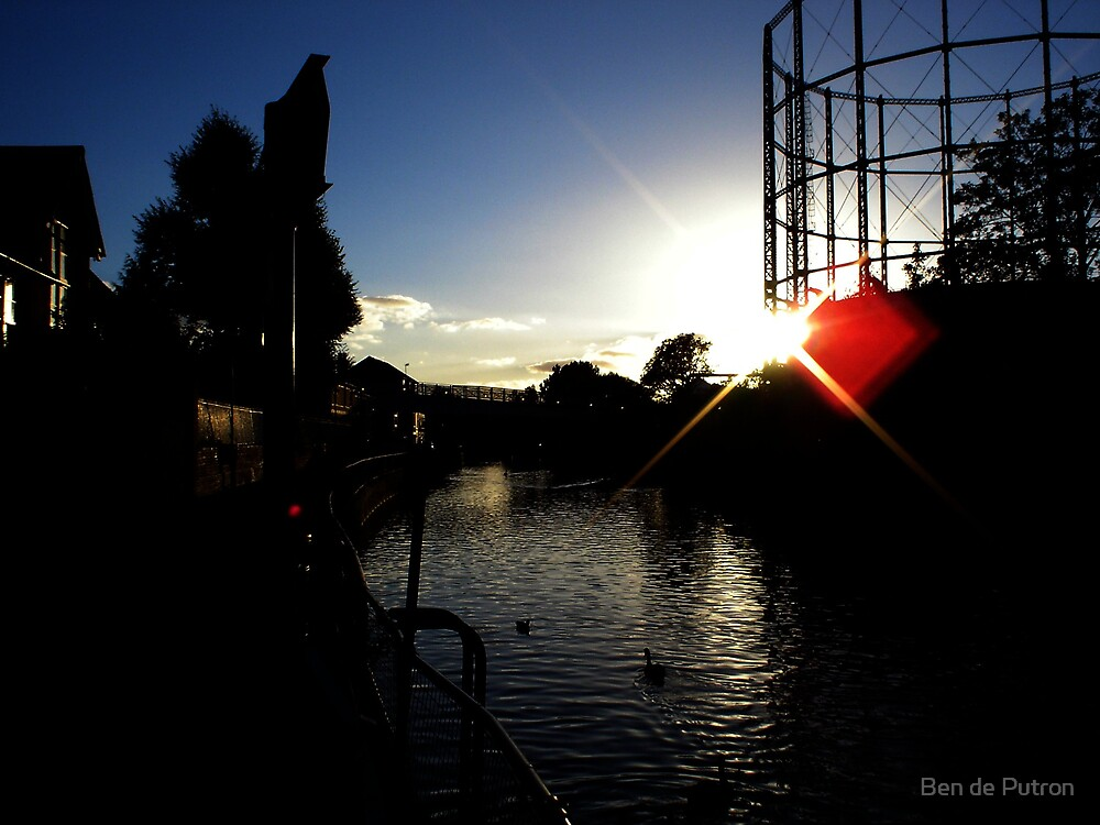 The Gasworks at Sundown by Ben de Putron
