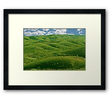 Hilly Landscape Framed Print