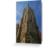 Reaching for god. Greeting Card