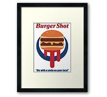 Burger Shot Framed Print