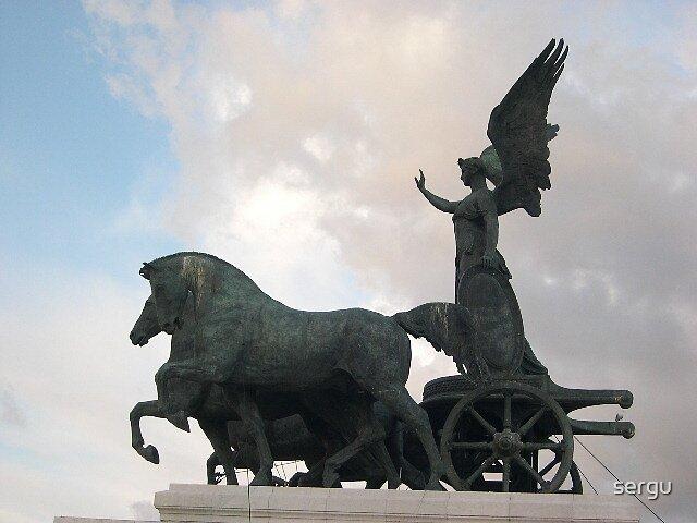 on top of altare della patria by sergu
