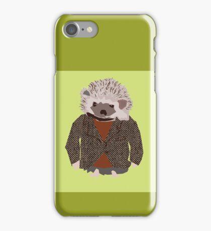 Hedgehog in Herringbone Jacket iPhone Case/Skin