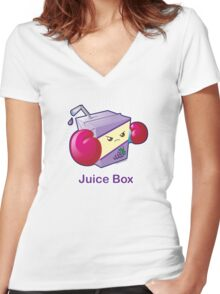 Cute Pun: Juice Box Women's Fitted V-Neck T-Shirt