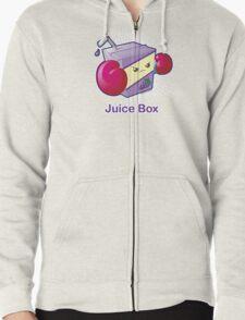 Cute Pun: Juice Box Zipped Hoodie