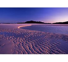Tidal art - Hill inlet, Nth Qld Photographic Print