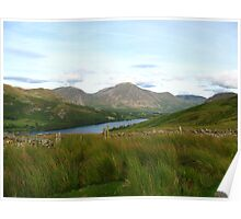 Loweswater with Bassenthwaite in the background Poster