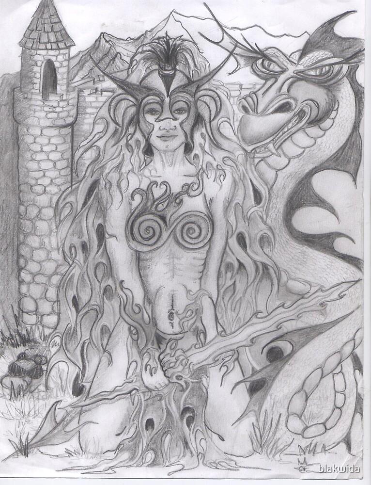 fire princess by blakwida