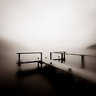 The foggy early Morning at Lake Annecy by Imi Koetz