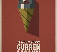 Gurren Lagann Poster by joshstobbs
