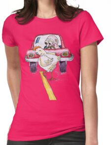Chicken Dance Womens Fitted T-Shirt