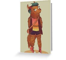 Werewolf Girl Greeting Card