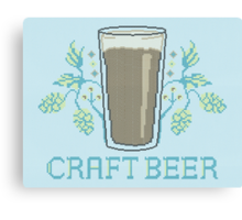 Craft Beer Canvas Print