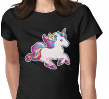 Kawaii Magical Candy Unicorn Womens Fitted T-Shirt