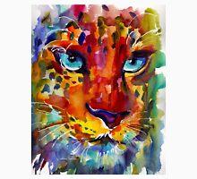 Wildlife Expressionist Watercolor Leopard painting Svetlana Novikova Unisex T-Shirt