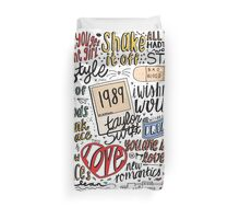 taylor swift collage Duvet Cover