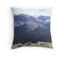 RMNP never summer range Throw Pillow