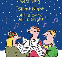 Christmas Card - Silent Night. by NigelSutherland
