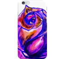 Colorful Painted Rose 2 iPhone Case/Skin