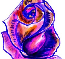 Colorful Painted Rose 2 by AnnArtshock