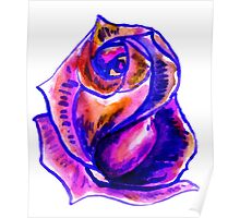 Colorful Painted Rose 2 Poster