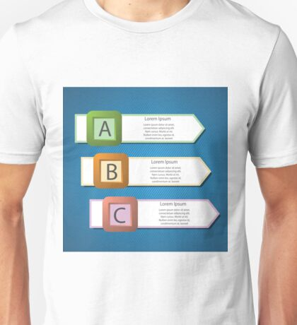 info graphic arrows structure Unisex T-Shirt