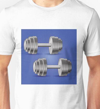 dumbbell background Unisex T-Shirt