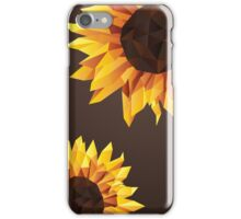 Polygonal Sunflower iPhone Case/Skin