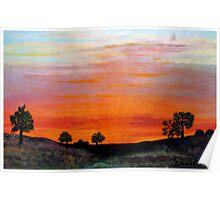 North Dakota Sunset Poster