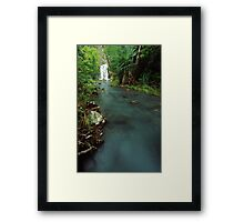 seasonal waterfall - Nth Qld.  (view larger) Framed Print