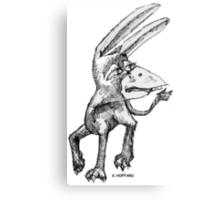 Donkey Bird Canvas Print