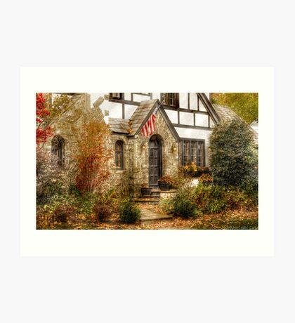 Midevil townhouse Art Print