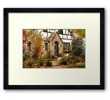 Midevil townhouse Framed Print
