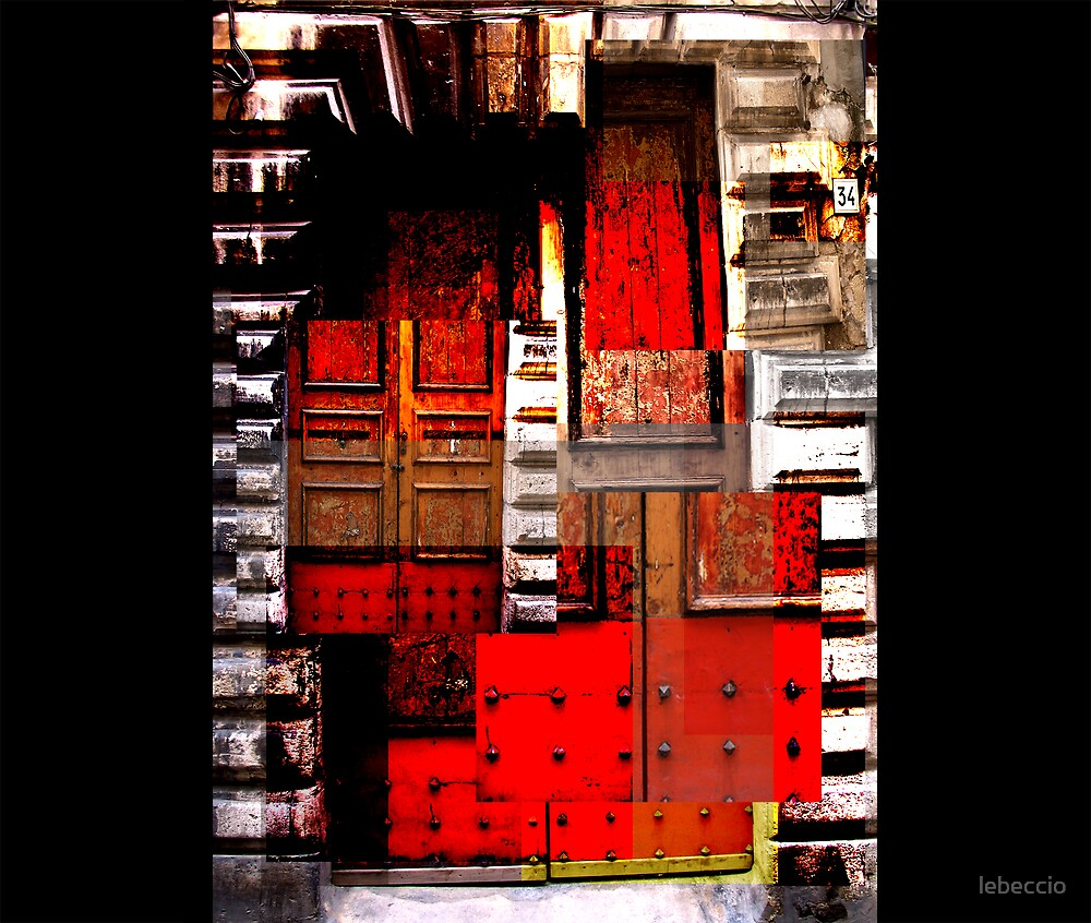 Red Door of Siracusa by lebeccio