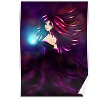 Girl with magic ball Poster