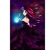 Girl with magic ball Photographic Print