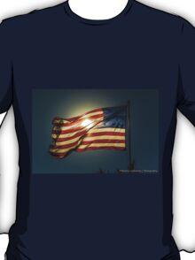 Sun & American Flag (2) T-Shirt