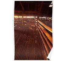morning light - Old Mungo shearing shed, NSW. Poster