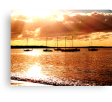 sailing the morning  Canvas Print