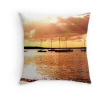 sailing the morning  Throw Pillow