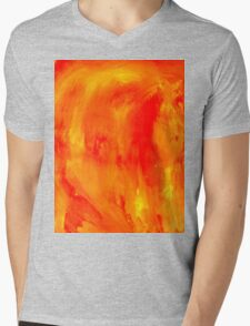Orange Paint Background Mens V-Neck T-Shirt