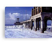 Huntington Beach Pier, Long Ago Canvas Print