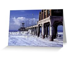 Huntington Beach Pier, Long Ago Greeting Card